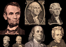 Portrait Presidents Of The United States. Collagen stock photo