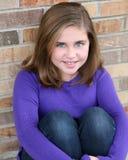 Portrait of preteen girl Royalty Free Stock Photos