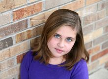 Portrait of preteen girl Stock Photo