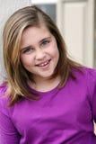 Portrait of preteen girl Stock Images