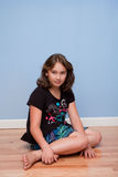 Portrait of pretty 10 year old girl royalty free stock photography