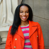 Portrait of pretty african american college student on campus Royalty Free Stock Photos