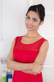 Portrait of pretty asian woman at office. Royalty Free Stock Images
