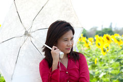 Portrait of pretty Asian woman posing. royalty free stock images