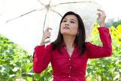 Portrait of pretty Asian woman posing . Stock Photo