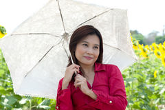 Portrait of pretty Asian woman posing . stock images