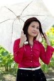 Portrait of pretty Asian woman posing. Stock Photo