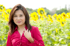 Portrait of pretty Asian woman posing . royalty free stock image