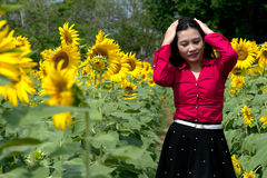 Portrait of pretty Asian woman posing. Royalty Free Stock Photo