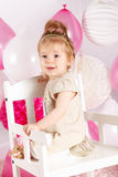 Portrait of a pretty baby girl Royalty Free Stock Photos