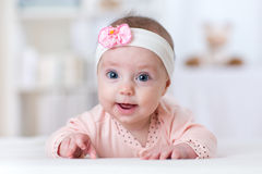 Portrait of pretty baby girl royalty free stock images