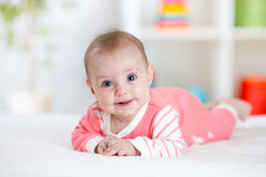 Portrait of pretty baby girl royalty free stock photography