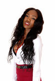 Portrait of pretty black woman. Stock Photo