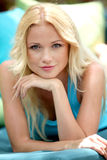 Portrait of pretty blond girl Royalty Free Stock Images