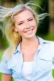 Portrait of pretty blond girl Stock Photography