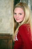 Portrait of pretty blond teen. Portrait of pretty young teen girl with long blond hair Royalty Free Stock Photography