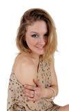 Portrait of pretty blond woman. stock images