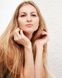 Portrait of pretty blond woman Royalty Free Stock Photography