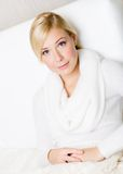 Portrait of pretty blond woman Stock Images