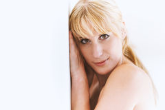 Portrait of a pretty blond woman Royalty Free Stock Images