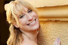 Portrait of a pretty blond woman Royalty Free Stock Image