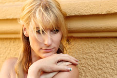 Portrait of a pretty blond woman Stock Photography