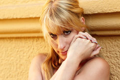 Portrait of a pretty blond woman Royalty Free Stock Photo