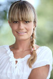 Portrait of a pretty blonde woman Stock Photo