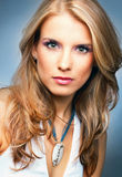 Portrait of pretty blonde woman Royalty Free Stock Image