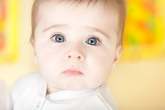 Portrait of pretty blue-eyes baby Royalty Free Stock Photography