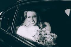 Portrait of a pretty bride Stock Photos