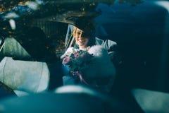Portrait of a pretty bride Stock Photography