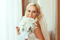 Portrait of pretty bride Stock Photography