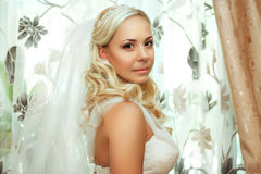 Portrait of pretty bride Royalty Free Stock Photos