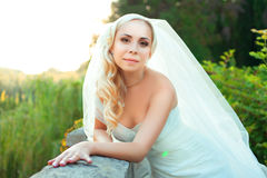 Portrait of pretty bride Royalty Free Stock Image