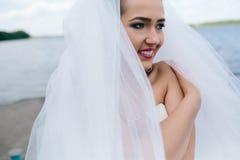 Portrait of pretty bride Stock Image