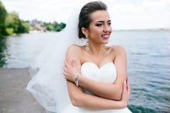Portrait of pretty bride Stock Photography
