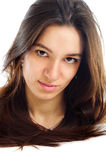 Portrait of a pretty brunet young woman Royalty Free Stock Photography