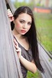Portrait of pretty brunette Royalty Free Stock Image