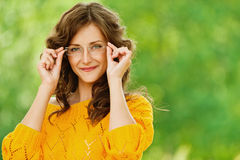 Portrait of pretty brunette woman Stock Photography