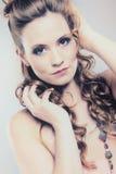 Portrait of a pretty brunette woman Stock Photography