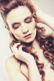 Portrait of a pretty brunette woman Royalty Free Stock Photo