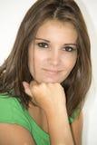 Portrait of a pretty brunette woman Stock Image