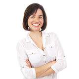 Portrait of a pretty brunette Royalty Free Stock Images