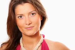 Portrait of a pretty businesswoman royalty free stock photos