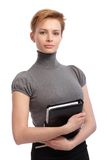Portrait of pretty businesswoman stock photos
