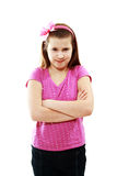 Girl angry Royalty Free Stock Photography