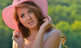 Portrait of pretty cheerful girl Royalty Free Stock Image