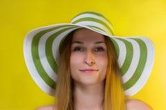 Portrait of pretty cheerful woman Stock Photo