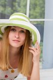 Portrait of pretty cheerful woman Stock Images